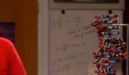 For tonight's episode, the producers added a whiteboard of their own to tonight's show.