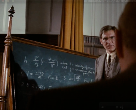These equations come from Indiana Jones's class room.  Spot the problem?